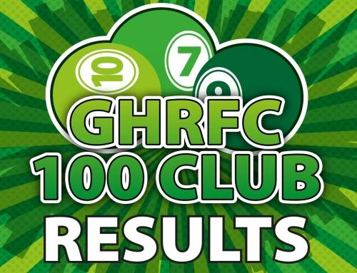 GHRFC 100 Club DEC 2018 Draw Results & NEWS OF A SPECIAL ANNUAL DRAW