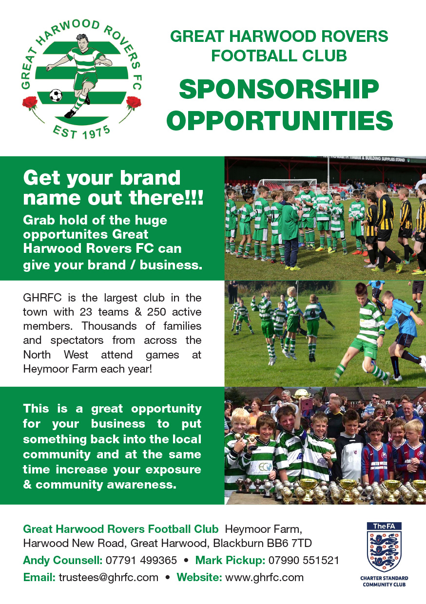 GHRFC Sponsorship opportunities